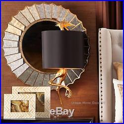New Ibis Table Lamp Ostrich Bird Light Black & Gold Crane Safari Desk Bedroom
