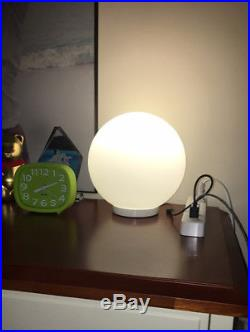 New Modern Glo Ball Round Glass LED Floor Table Desk Lighting Light Lamp White