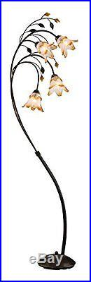 Ok Lighting Ok-9143 Windance Floral Floor Lamp Brown New