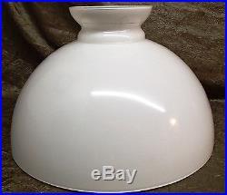 Opal Glass 14 Oil Kerosene Lamp Shade Library or Table Lamp Globe Vianne France