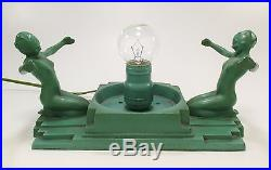 Original Art Deco FRANKART Model #230 Nude Table Lamp ca 1920s-30s Very Nice