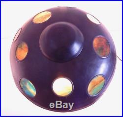 Original Fulper Ceramic Table Lamp Wonderful Stained Glass Shade Arts & Crafts