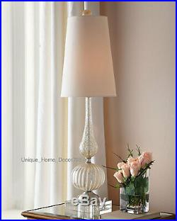 PAIR New Horchow Glass Buffet Table Lamp SET Murano Style Living Bedroom Office