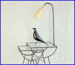 Pair George Nelson Style Arbuck Nesting Lamp Tables Fiberglass Mid Century Retro