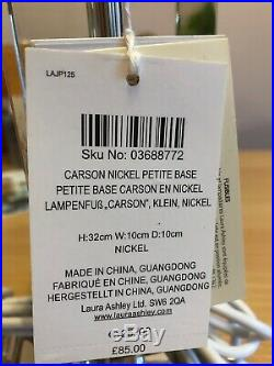 Pair Of (2x) Laura Ashley Carson Nickel Petite Base Lamp Light