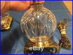 Pair Waterford Crystal Table Lamp