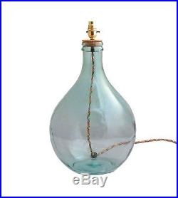 Pamplona recycled green glass bottle table lamp base
