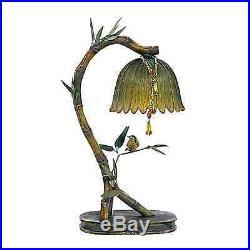 Perching Finch Table Lamp Bird On Bamboo Stem Light Tropical Beach 17H