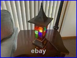 Peter Marsh 1950s Chunky Glass Mid Century Modern Lamp Brutalist Nader Vintage