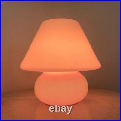 Pink Mushroom Lamp, Murano style Glass Lamp, Bedside Table Lamp, Desk Lamp