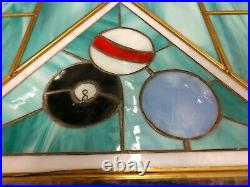 Pool Table Light Billiard lamp Lighting Art Deco revival Stained Glass hanging