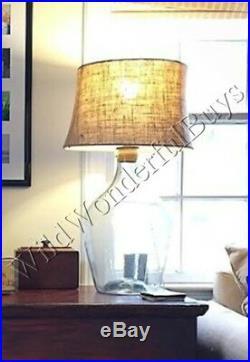 Pottery Barn Clift Table Lamp Base Large 31H Blown Glass Jug Oversize NIB