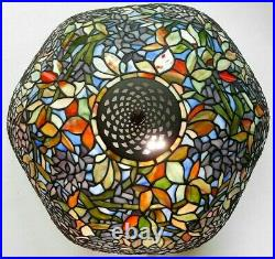 QUOIZEL 30 LABURNUM STAINED GLASS TABLE LAMP WISTERIA vintage tiffany craftsman
