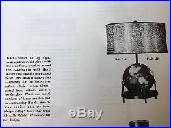 Rare Aladdin Electric Globe Lamp Alacite Glass World Lamp