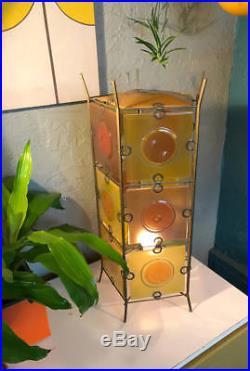 Rare Michael Frances Higgins glass tall table lamp 1950s mid century modern