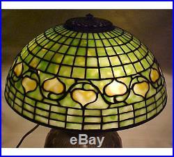 Rare Tiffany Studios Original Acorn WithTobacco Leaf Table Lamp Antique Vintage
