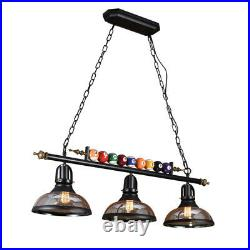 Retro Hanging Pool Table Lights Fixture Billiard Pendant Lamp with Glass Shades US