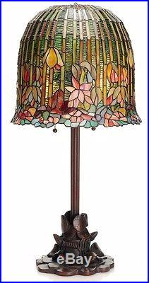 River Of Goods Tiffany Style Pond Lily Stained Glass Table/Desk Lamp New