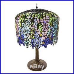 River of Goods 30-inch Tall Stained Glass Tiffany-inspired Grand Wisteria Table
