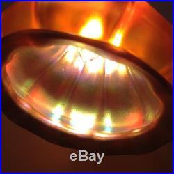 Signed Steuben Art glass shade lamp Tiffany art Glass Quezal arts Crafts era