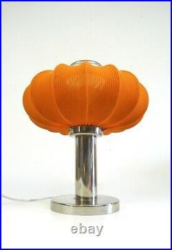 Space Age MID Century Vintage 70s Orange Cocoon Table Desk Sideboard Lamp Narva