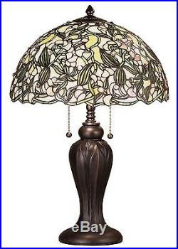 Stain Glass Table Lamp 24 Inch H Sweet Pea Meyda Tiffany Style
