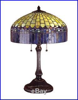 Stain Glass Table Lamp 24 Inch H Tiffany Candice Meyda