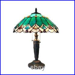 Stained Glass Chloe Lighting Victorian 2 Light Table Lamp 16 Shade Handcrafted