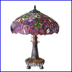 Stained Glass Chloe Lighting Wisteria 2 Light Table Lamp CH18045PW16-TL2 New