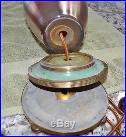 Steuben Aurene Art Glass Table Vase Lamp Antique Nouveau