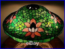 Suess Arts & Crafts Leaded Slag Stained Glass Lamp Tiffany Handel Duffner Era