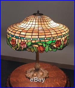 Suess Geometric & Floral Leaded Glass Lamp