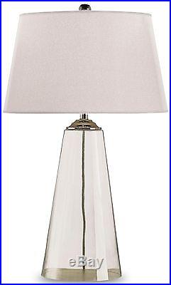 Table Lamp Currey Company Atlantis Contemporary 1-light Clear Glass