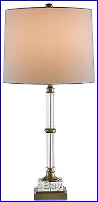 Table Lamp Currey Company Curio Traditional 1-light Clear Brass Soc