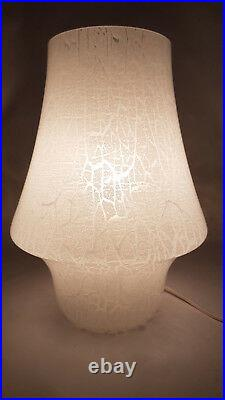 Table lamp 60's glass murano crackle vintage