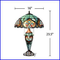 Tiffany Desk Lamp Victorian Jeweled Stained Glass Home Decor Table Lighting
