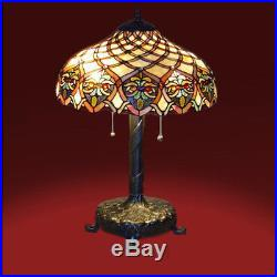 Tiffany Lamp Tiffany Style Table Lamp / Reading Lamp Hand Made Cut Glass NEW