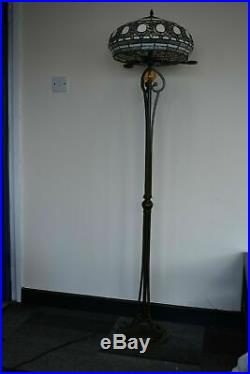 Tiffany New Style Stained Glass Floor Lamp (2 Lights) 16 Shade Multi Colour