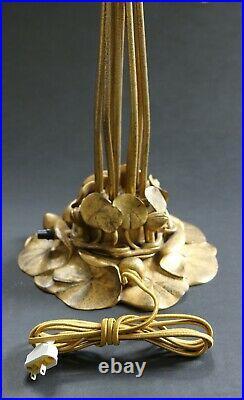 Tiffany Studios Gold Ten-Light Lily Table Lamp, authentic Tiffany Shades, LCT