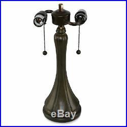 Tiffany Style Blue Jeweled Table Lamp 14 Shade