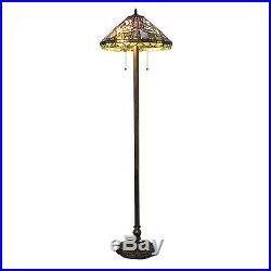 Tiffany Style Calla Lily Floor Lamp Handcrafted 18 Shade