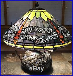 Tiffany Style Dragonfly Stained Glass Table Lamp