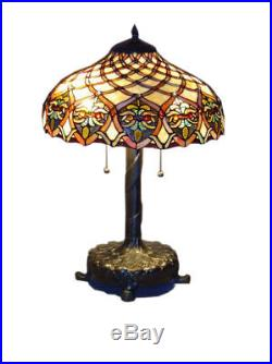 Tiffany Style Handcrafted Baroque Style Table Lamp 16 Shade