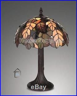 Tiffany Style Handcrafted Glass Table Lamps Medium Size (12 Inches Wide)