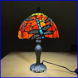 Tiffany Style Lamp Dragonfly Hand Crafted Glass Table /Desk/Bedside Lamps UK