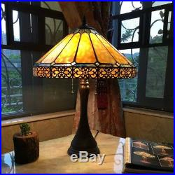 Tiffany Style Mission Arts & Crafts Stained Glass 23 Table Desk Lamp 16 Shade