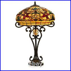 Tiffany Style Ornate Floral Table Lamp 16 Shade