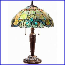 Tiffany Style Pearl Vintage Table Lamp Tiffany Style Pearl Vintage Table Lamp