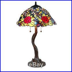 Tiffany Style Rose Tree Table Lamp 18 Shade