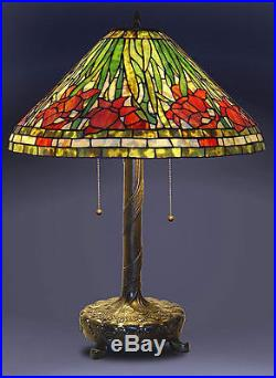 Tiffany Style Stained Glass Daffodil Table Lamp 18 Shade New